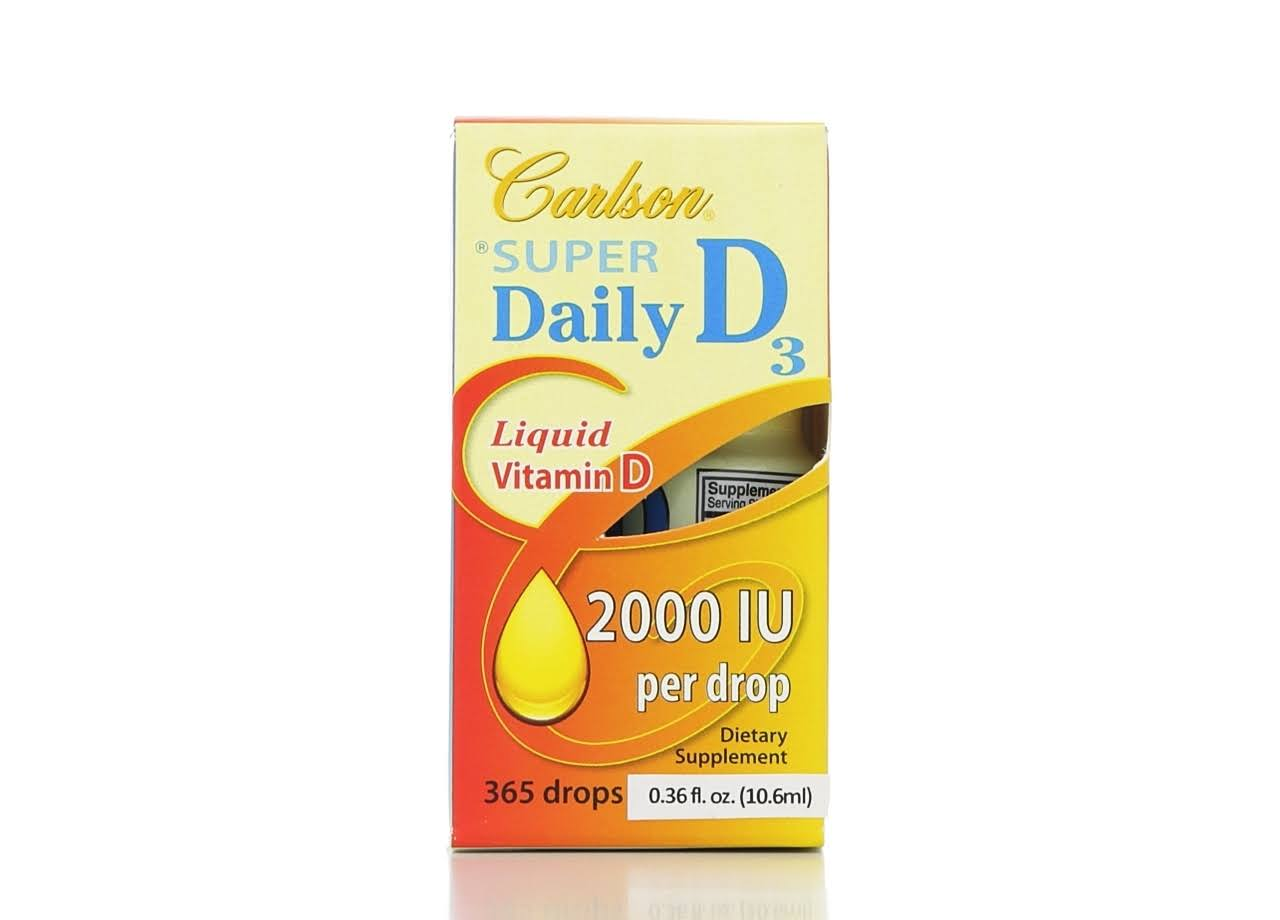 Carlson Labs Super Daily D3 Vitamin, 2000 IU - 0.38 fl oz dropper