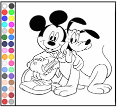 Coloring Pages Of Mickey Mouse And Pluto Books