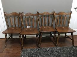 Set Of 4 Vintage Early American TEMPLE STUART Furniture Solid Wood ... Windsor Ding Chair Fly By Night Northampton Ma Antique Early American Carved Wood With Sabre Legs Desk Side Accent Vanity 76 Astonishing Gallery Of Maple Chairs Best Solid Mahogany Shield Back Set Handmade Shaker Farm Table 72 By David S Edgerly Customer Fniture Edna Winchester Countryside Amish 19c Cherry Extendable Rockwell How To Choose For Your Custom Ochre Forcloth Forcloths Custmadecom Country Farmhouse Room Amazoncom Hardwood Xback Of 2