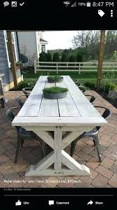 Outdoor Wooden Picnic Tables Farmhouse Table For Outside Plans Unique