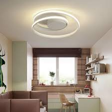 led deckenleuchte fernbedienungsle wohnzimmer schlafzimmer küche nachbildung weiß modern 60 cm 60 w