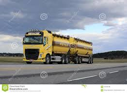 100 Bulk Truck And Transport Yellow Volvo FH Tank In Along Highway Editorial