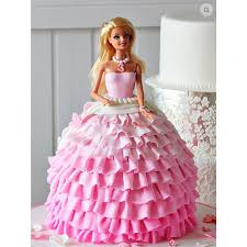 Cute Barbie Doll Shape Cake