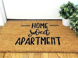 Apartment Sweet Rug Home Doormat Welcome Mat Door Outdoor Decor Housewarming Gift Ruger American