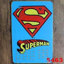 Vintage Superhero Wall Decor by Super Man Vintage Metal Signs Home Decor Vintage Tin Signs Pub