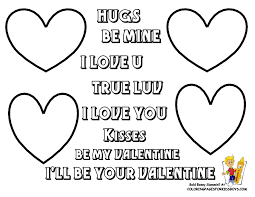 Print Out Valentines Quotes With Hearts At YesColoring