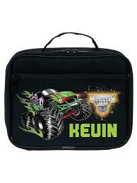 100 Monster Truck Lunch Box Personalized Jam Grave Digger Black Kids Bag Walmartcom
