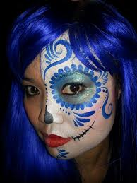 Easy Sugar Skull Day Of by Day Of The Dead Sugar Skull Face Paint Makeup U2013 Face Painting By