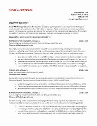 Resume Format For Senior Management Position Elegant Template Table Job Outline Examples Of A