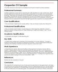 Carpenter Cv Sample Resume Examples Uk