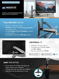 Imac Vesa Desk Mount by Amazon Com Mount It Height Adjustable Monitor Stand Desk Mount