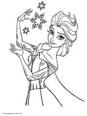 Frozen Free Elsa From Coloring Pages