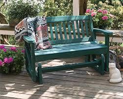 having glider bench in the garden u2014 the homy design