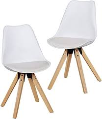 wohnling 2er set retro esszimmer stuhl lima ohne armlehne