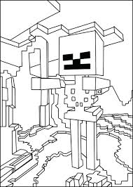 Coloring Pages Of Minecraft Steve Diamond Armor