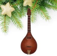Miniature Wooden Mandolin Christmas