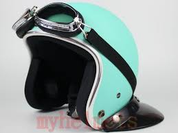 Matte Green Vespa Motorcycle Helmet
