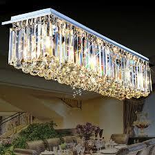 rechteckige kristall le led theke kristall kronleuchter restaurant lichter moderne wohnzimmer lichter hallengang deckenleuchte