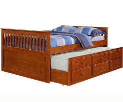 mission full size captains trundle bed espresso bedroom