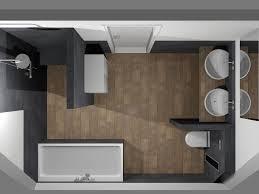 de eerste kamer moderne badkamer met ronde en rechthoekige