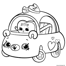 Coloriage Cutie Cars For Girls JeColoriecom