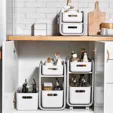 2 tiers küche lagerung regal schrank schmale lücke unter waschbecken organizer box bequem bad organizer stehen make up gewürze rack