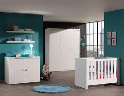 chambre de bébé design chambre à coucher bébé complète robinson coloris blanc laqué