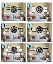 With The Large Mirror In Center Adding A Shelf Above Couchwall Collage Ideas Around Clock To Use Our Big Living Room