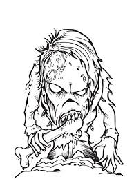 Coloring Page Zombie Pages For Kids On Free Printable Zombies