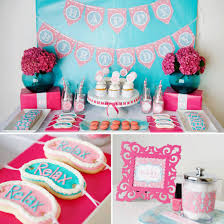 4 Lovely Girl Spa Birthday Party Invitations