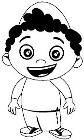 Little Boy Coloring Pages