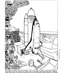 Space Shuttle Coloring Pages For Kids