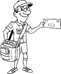 The Jolly Postman Colouring Pages