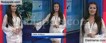 Lourdes Figueroa 28 Who Works For A Guatemalan TV Station Opted See Through White Dress Her Latest On Screen Appearance