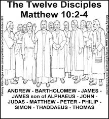 The Twelve Disciples Matthew This Coloring Page Will Help You Prepare Your Sunday School Lesson On Bible Story Of Jesus Chooses 12