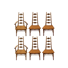 Superior Midcentury Adrian Pearsall Style Brutalist Oak Dining Chairs ... Danish Modern La Adrian Pearsall Brutalist Highback Ding Pair Of Tall Back Armchairs In Orange Velvet Set Of Five Mid Century Adrian Pearsall Style High Back Cane Ding Set Six Chairs For Craft Associates High Etsy Scoop Chair And Ottoman Midcentury From Fair Auction Co 1960s Vintage Style Teak Wood