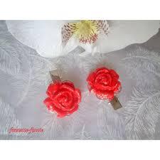 barrettes pinces à cheveux fleur fleur pâte polymère fimo