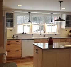 kitchen lighting sink light drum bronze rustic shell