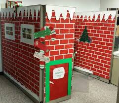 Cubicle Holiday Decorating Themes by Luxury Santas Workshop Office Decorating Ideas