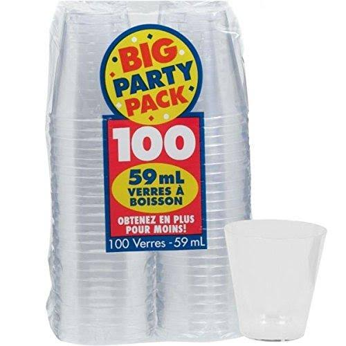 Clear Shot Glasses - 2oz, 100ct