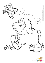 Lamb Coloring Page Butterfly Sheep Colorbook Pinterest And Beautiful