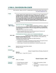 Resume Sample For Rn