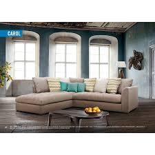 canap d angle design tissu d angle gauche design de couleur beige en tissu