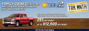 Chevrolet Deals & Lease Specials | Preston Hood Fort Walton New Cdjr Lease Specials Bernards Chrysler Dodge Jeep Ram Doral Kendall Landmark Atlanta Truck Vehicle In Fayetteville Ny Special Pricing For Our Chevrolets At Felix Chevrolet Of La Silverado 1500 Deals Pembroke Pines Autonation Trucks Suvs Apple Denecker Is A Middlebury Dealer And New Car 3500 Prices Cicero Gmc Lease Specials Long Island Rockville Centre Offers Nyle Maxwell