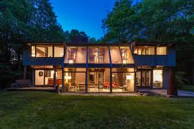 100 The Deck House Untouched Postandbeam With Soaring Atrium Asks 790K Curbed