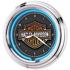 Harley Davidson Gift For Women Men Man Cave Accessories Outdoor Clock Garage NEW