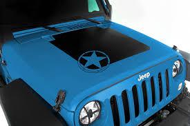 Jeep Jk Rugged Ridge Floor Liners by Rugged Ridge 12300 15 Hood Decal Star 07 16 Jeep Wrangler Jk