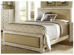 White King Headboard Upholstered by Furniture Rustic Wood Queensize Bed With Beige Upholstered Head