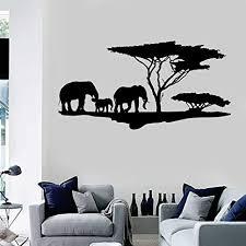 shiyuenb vinyl wandtattoo afrikanische natur elefanten