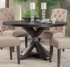 5 Piece Formal Dining Room Sets by Alpine Furniture Newberry Round Dining Table In Salvaged Grey 1468